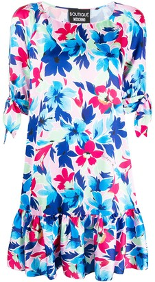 Boutique Moschino Floral-Print Short Dress