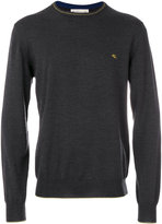 Etro embroidered logo jumper - men - Wool - M