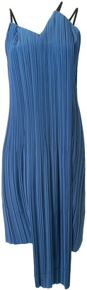 AKIRA NAKA Asymmetric Pleated Dress