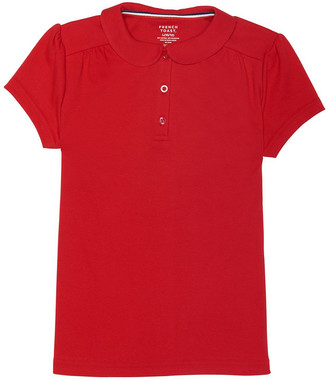French Toast Boys' Polo Shirts RED - Red Short-Sleeve Rounded Collar Polo - Toddler & Boys