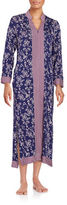 Oscar de la Renta Printed Zip-Front Nightgown