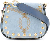 Marc Jacobs Nomad small denim saddle bag - women - Cotton - One Size