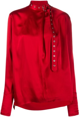 Marques Almeida Silk Belted Collar Blouse
