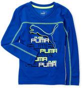 Puma Boys 4-7) V-Neck Logo Tee