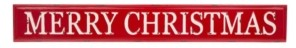 """Glitzhome Enameled Metal """"Merry Christmas"""" Wall Sign"""