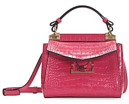 Givenchy Women's Mini Mystic Croc-Embossed Leather Top Handle Bag