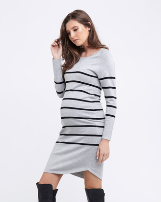 Ripe Maternity Women's Long Sleeve Dresses - Valerie Tunic Dress - Size One Size, XS at The Iconic