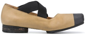 UMA WANG Two-Tone Square Toe Ballerinas