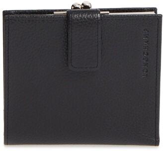 Longchamp 'Le Foulonne' Pebbled Leather Wallet