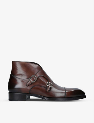 Tom Ford Elkan monk-strap leather shoes