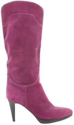 Sergio Rossi Purple Suede Boots