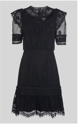 Whistles Mariah Lace Ruffle Dress