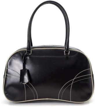 Prada Black Easy Calf Handbag - Vintage