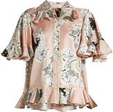 Roksanda Rosler floral-print double silk-georgette shirt