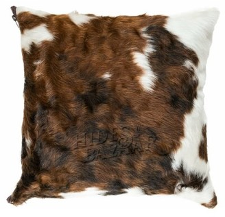 "Millwood Pines Robards Leather Throw Pillow Cover Size: 21"" x 21"""