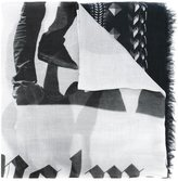 Palm Angels geometric print scarf - men - Modal/Cashmere/Pashmina - One Size