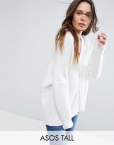 ASOS Tall ASOS TALL Cocoon Cardigan with Zip