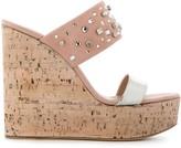 Giuseppe Zanotti cork wedge sandals