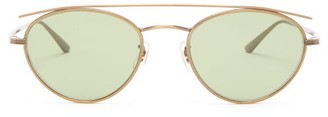 Oliver Peoples X The Row Hightree Round Metal Sunglasses - Mens - Gold