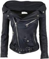 Faith Connexion Off Shoulder Biker Jacket