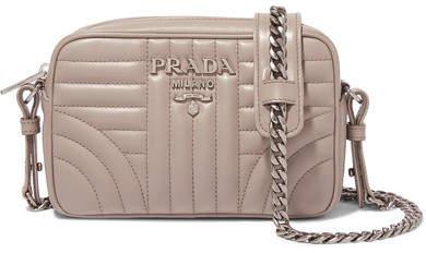 Prada Quilted Leather Camera Bag - Beige