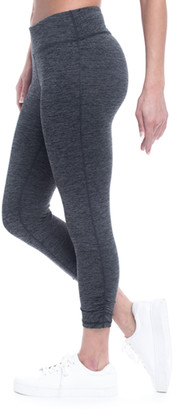 Gaiam Women's Active Pants CHARCOAL - Heather Charcoal Yoga 25'' Capri Leggings - Women