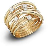 Bloomingdale's Diamond Station Crossover Band in 14K Yellow Gold, .35 ct. t.w.