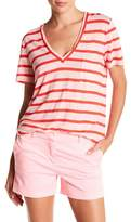 J.Crew J. Crew Striped Linen V-Neck Tee