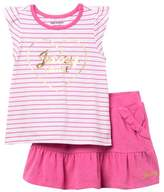 Juicy Couture Stripe Top & Skort Set (Toddler Girls)