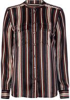 Veronica Beard Poppy Striped Blouse