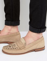 Ted Baker Miicke Cut Detail Nubuck Loafers