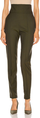 Alexandre Vauthier Dogstooth Tapered Pant in Khaki | FWRD