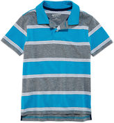Arizona Short Sleeve Stripe Pique Polo Shirt - Preschool