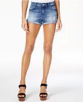 Jessica Simpson Juniors' Forever Distressed Cuffed Denim Shorts