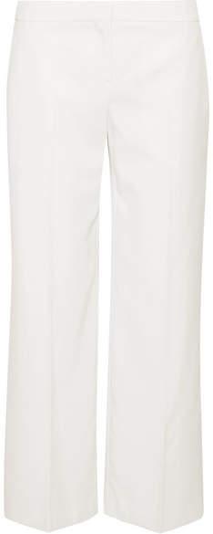 Alexander McQueen Grain De Poudre Wool Straight-leg Pants - Ivory