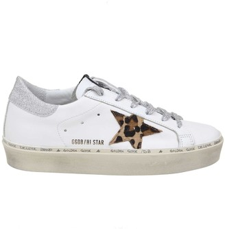 Golden Goose Hi Star Sneakers In White Color Leather