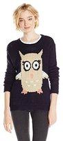 Jolt Junior's Cute Flying Owl Sweater