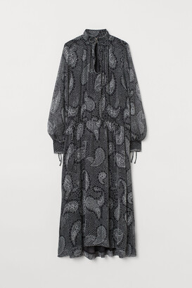 H&M Long balloon-sleeved dress