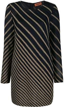 Missoni striped metallic knitted dress