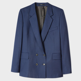 Paul Smith A Suit To Travel In - Women's Navy Puppytooth Double-Breasted Wool Blazer