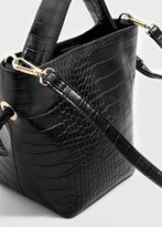 Violeta BY MANGO Croc-effect tote bag