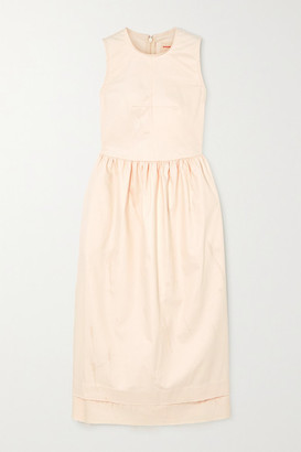 &Daughter Frayed Cotton-blend Twill Maxi Dress - Cream