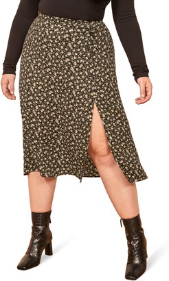 Reformation Jaime Side Slit Skirt