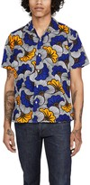 Gitman Brothers African Floral Camp Collar Short Sleeve Shirt