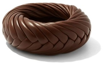 Bottega Veneta Braided-leather Cuff - Brown