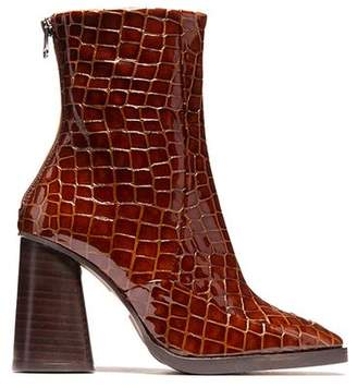 Croco L'intervalle Kingsbury Tan Leather Boot