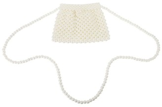 David Charles Pearl Bead Clutch Bag