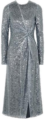 Galvan Pinwheel Twisted Sequined Georgette Dress