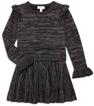 Design History Little Girl's & Girl's Lurex Knit Sweater Dress
