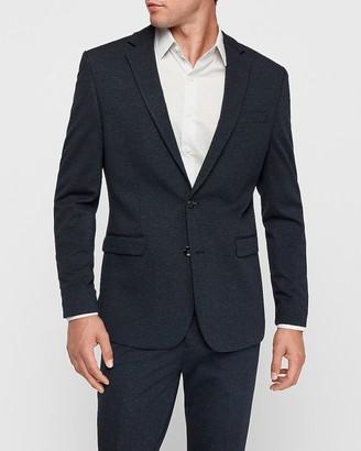 Express Slim Navy Luxe Comfort Knit Suit Jacket